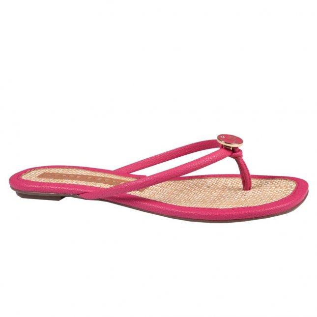 Rasteira Pink com Ráfia V21
