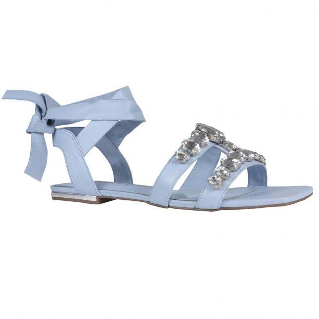 Sandália Rasteira Cotton Blue com Amarração V21