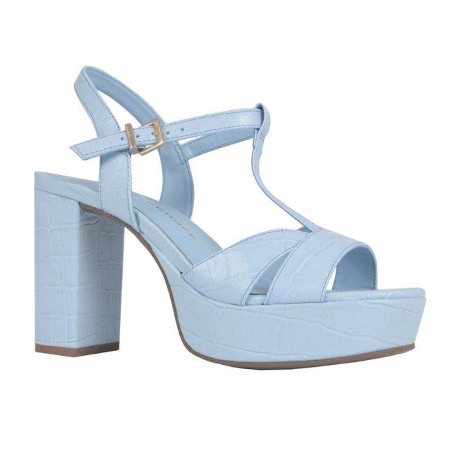Sandália Cotton Blue com Salto Blocado V21
