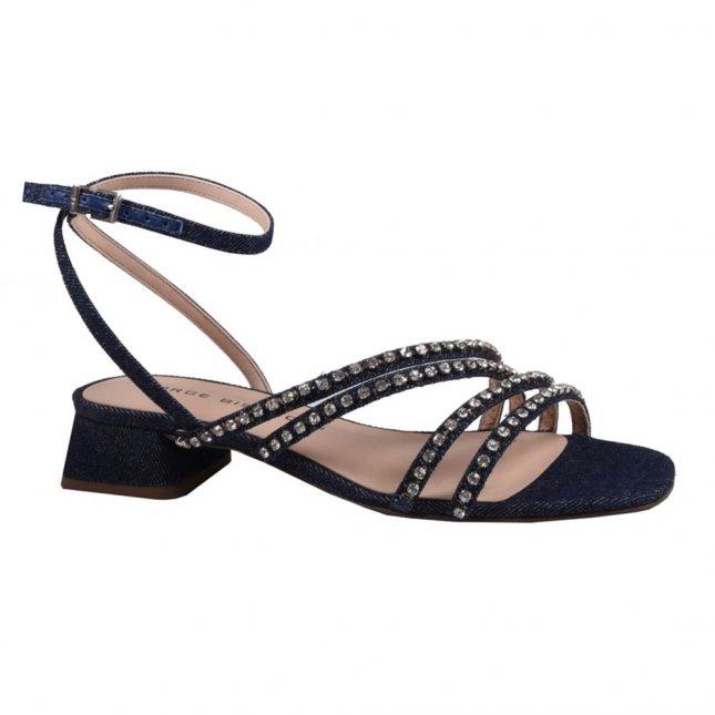 Sandália Tiras Azul Jeans V21