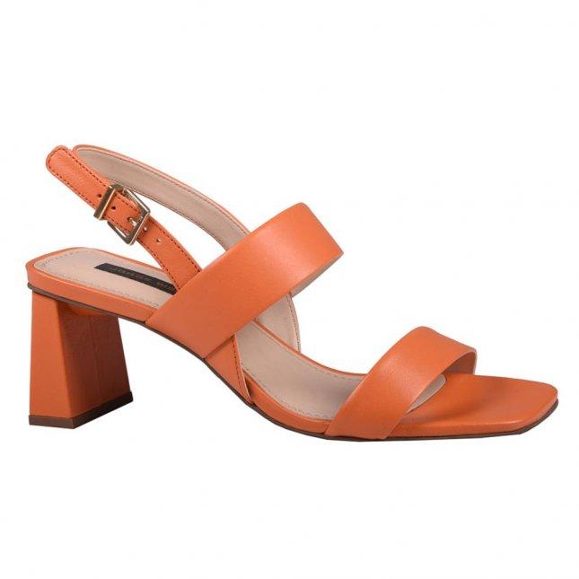 Sandália em Couro Tangerina V21