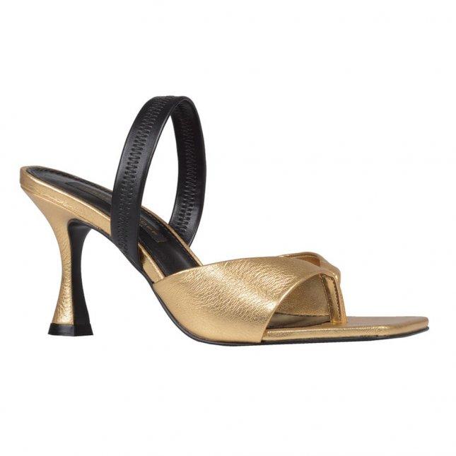 Sandália Dourada com Salto Taça V21