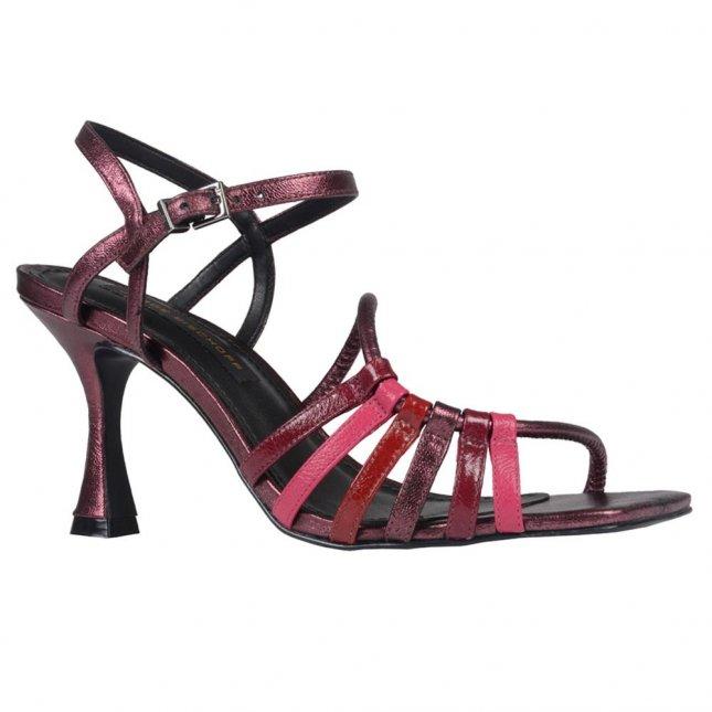 Sandália Metalizado Vinho e Cereja V21