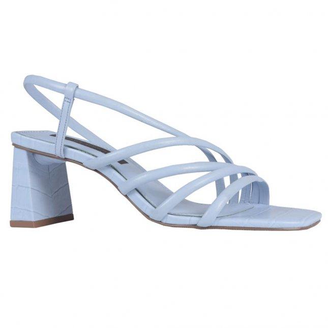 Sandália Cotton Blue com Salto Flare V21