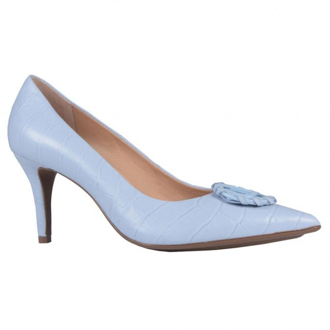 Scarpin Croco Cotton Blue V21