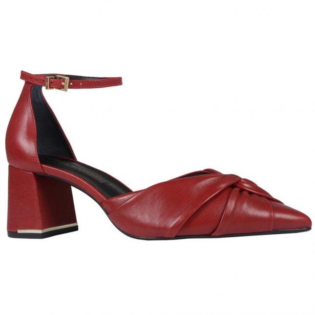 Scarpin Vermelho com Ankle Strap I20
