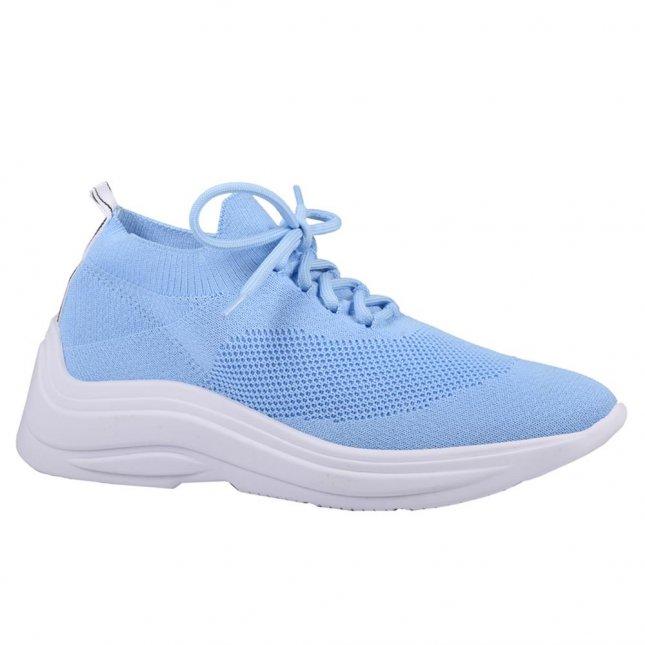 Tênis Feminino Knit Cotton Blue V21