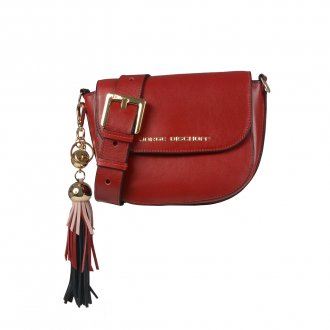 Imagem - Clutch Tiracolo Dark Red Com Barbicacho I21