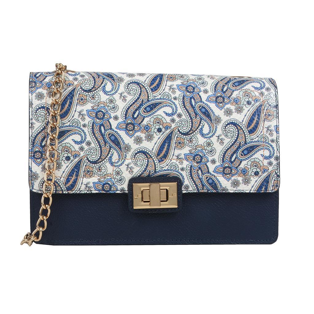 Imagem - Bolsa Estruturada Azul com Alça Corrente