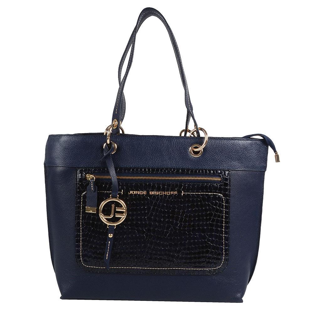 Imagem - Bolsa sacola azul carbono I19