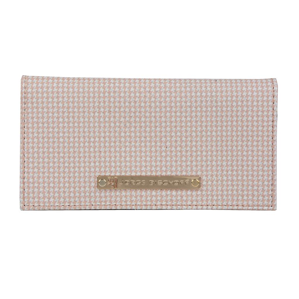 Imagem - Carteira porta-cartões pied de poule blush I1