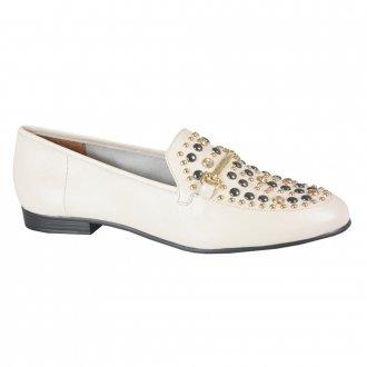 Imagem - Loafer Off White com Rebites I21