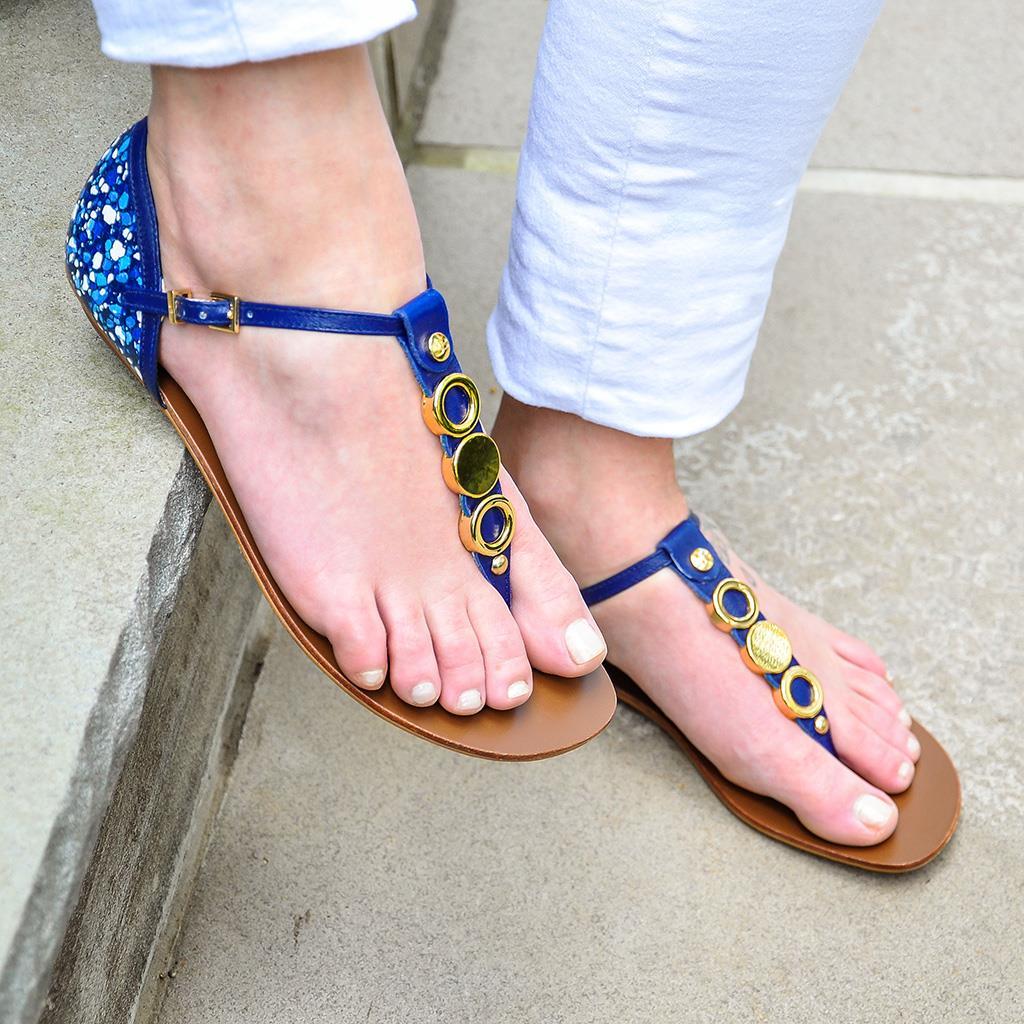Sandália azul 6
