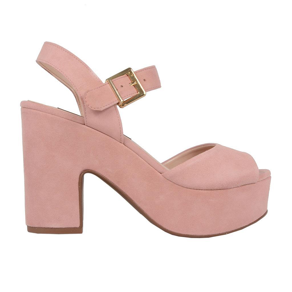 Sandália plataforma rosê V19 2