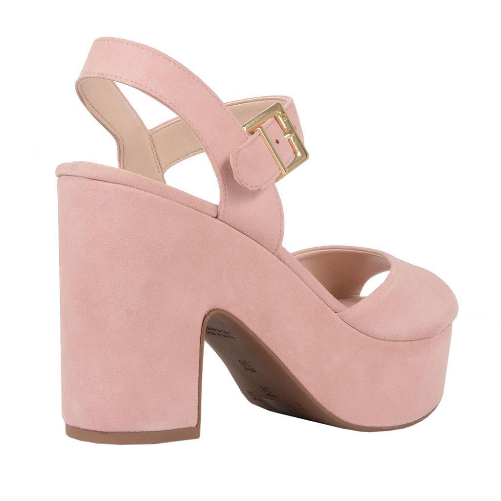 Sandália plataforma rosê V19 3