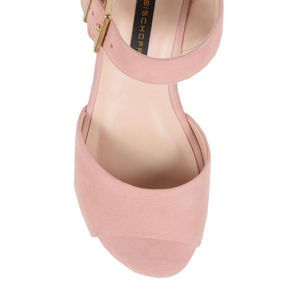 Sandália plataforma rosê V19 4