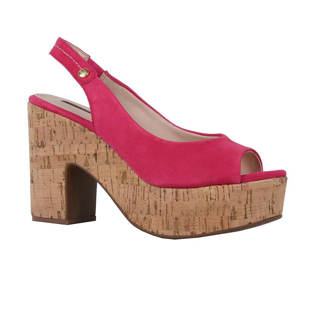 Sandália plataforma rosa pink