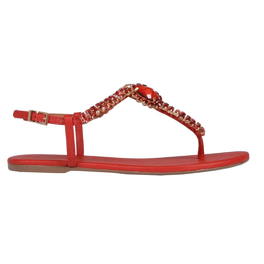 Sandália Rasteira Vermelha 2