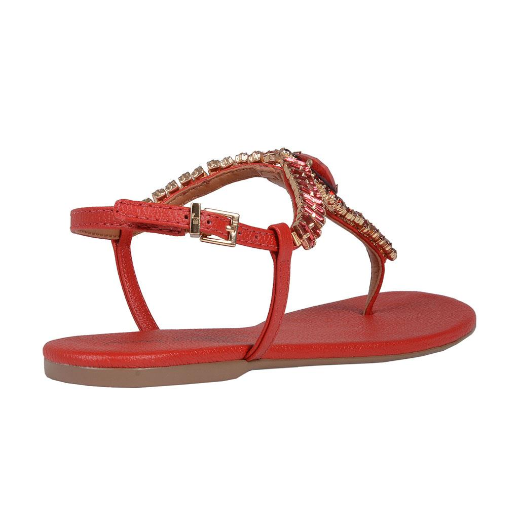 Sandália Rasteira Vermelha 3