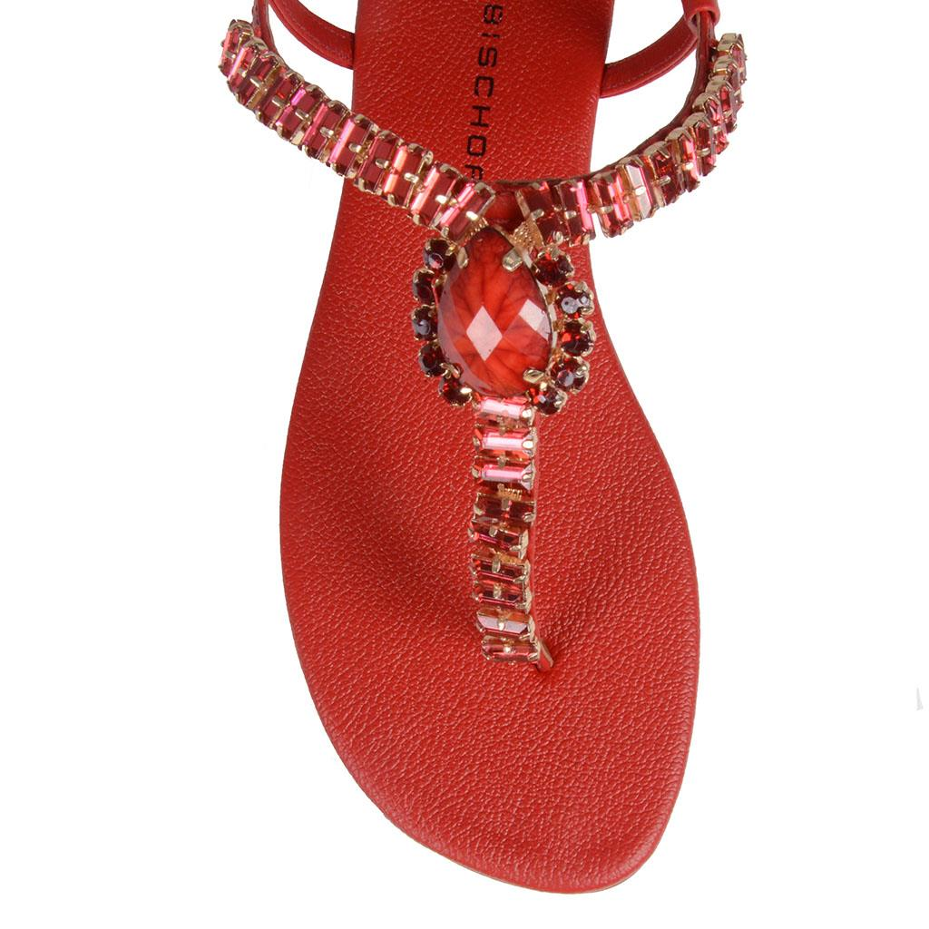 Sandália Rasteira Vermelha 4