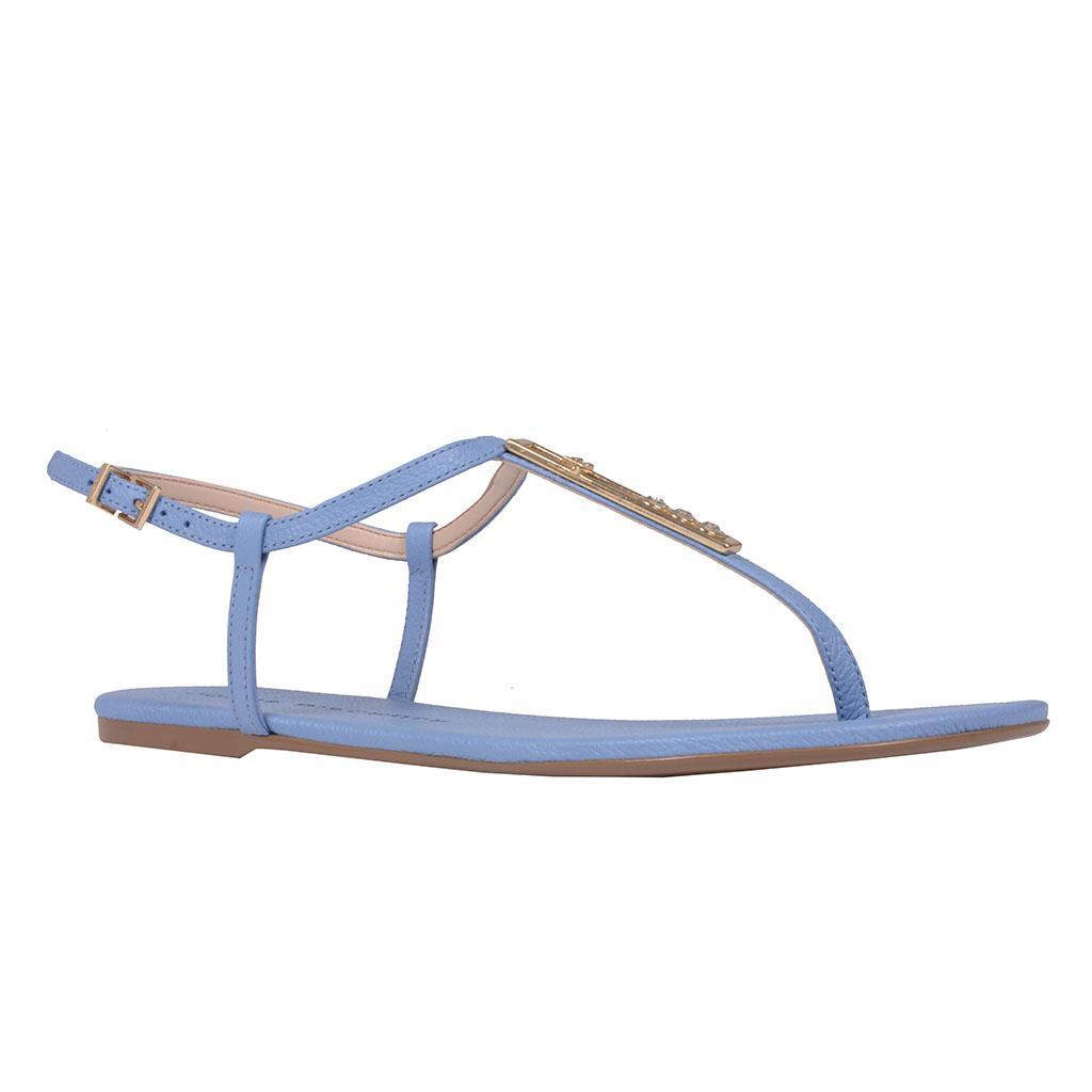 Sandália rasteira azul celeste V19