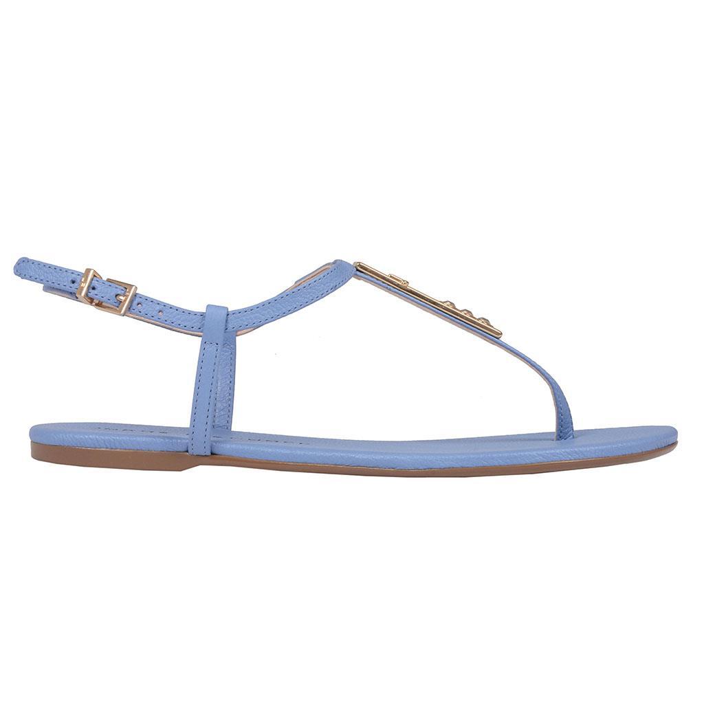 Sandália rasteira azul celeste V19 2