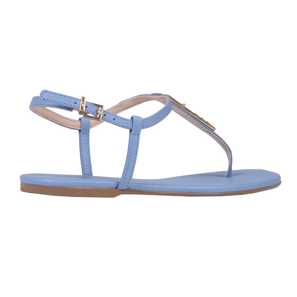 Sandália rasteira azul celeste V19 3