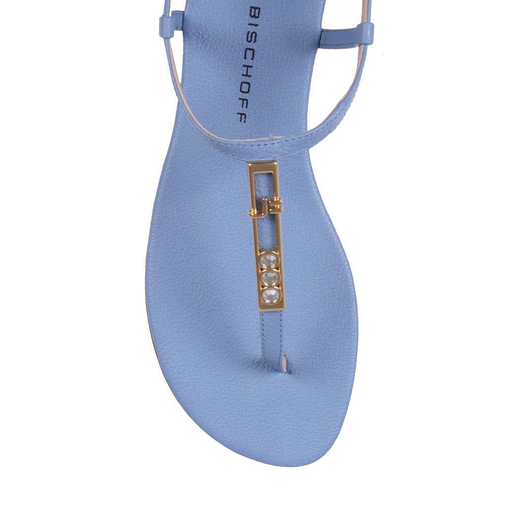 Sandália rasteira azul celeste V19 4