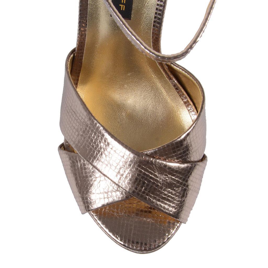 Sandália prata velha V19 3