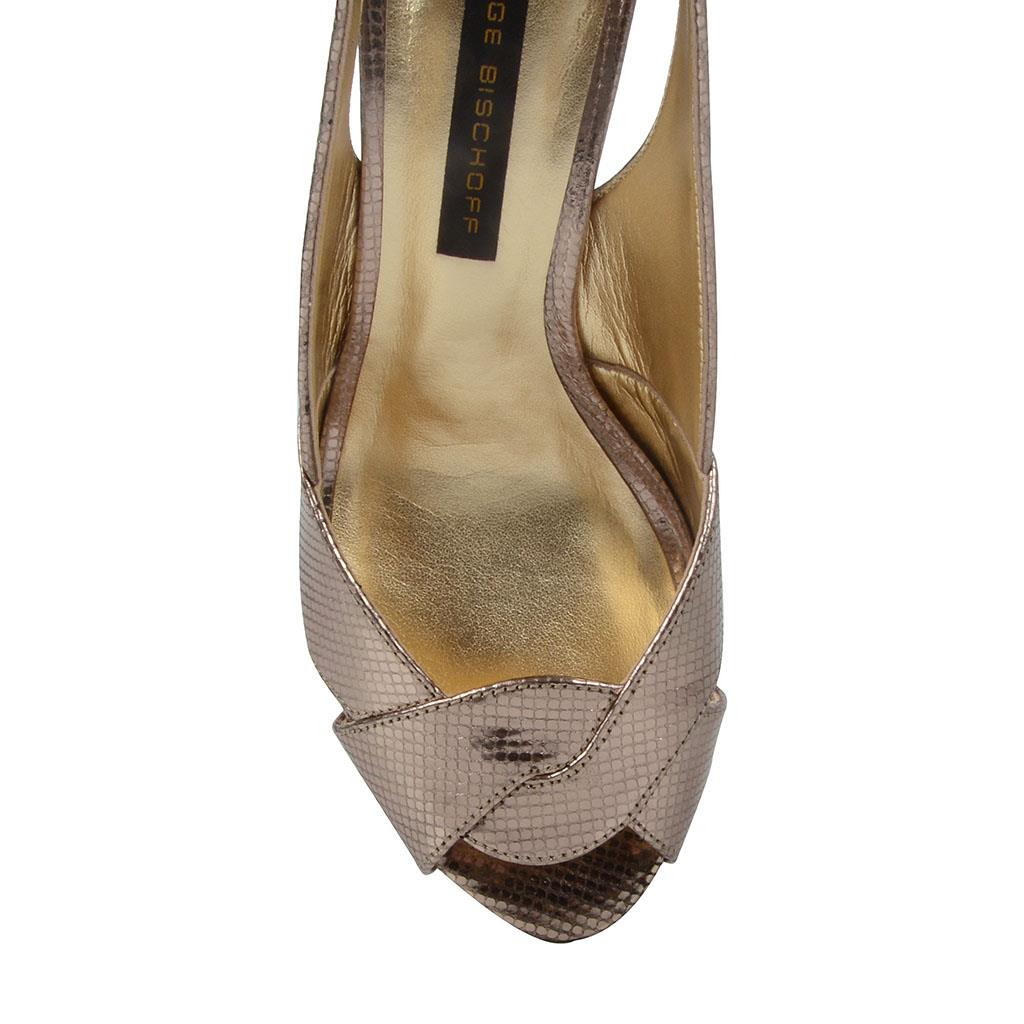 Sandália slingback prata velha V19 4