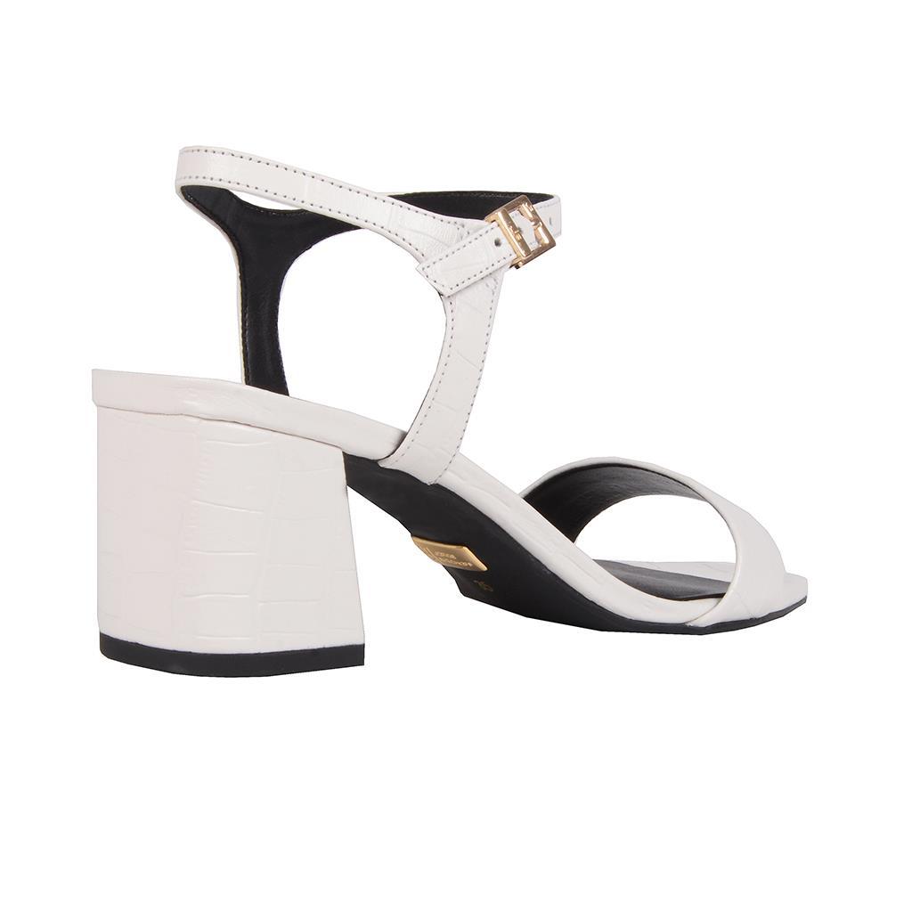 Sandália croco branco I19 3
