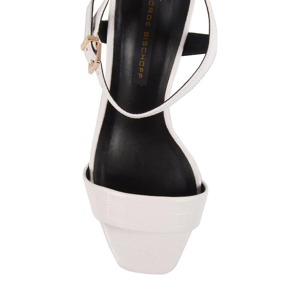 Sandália croco branco I19 4