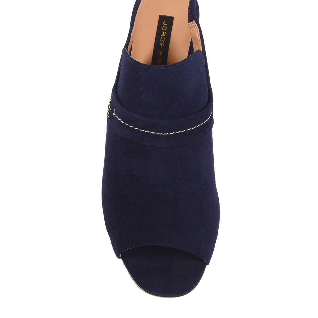 Sandália slingback azul carbono I19 2