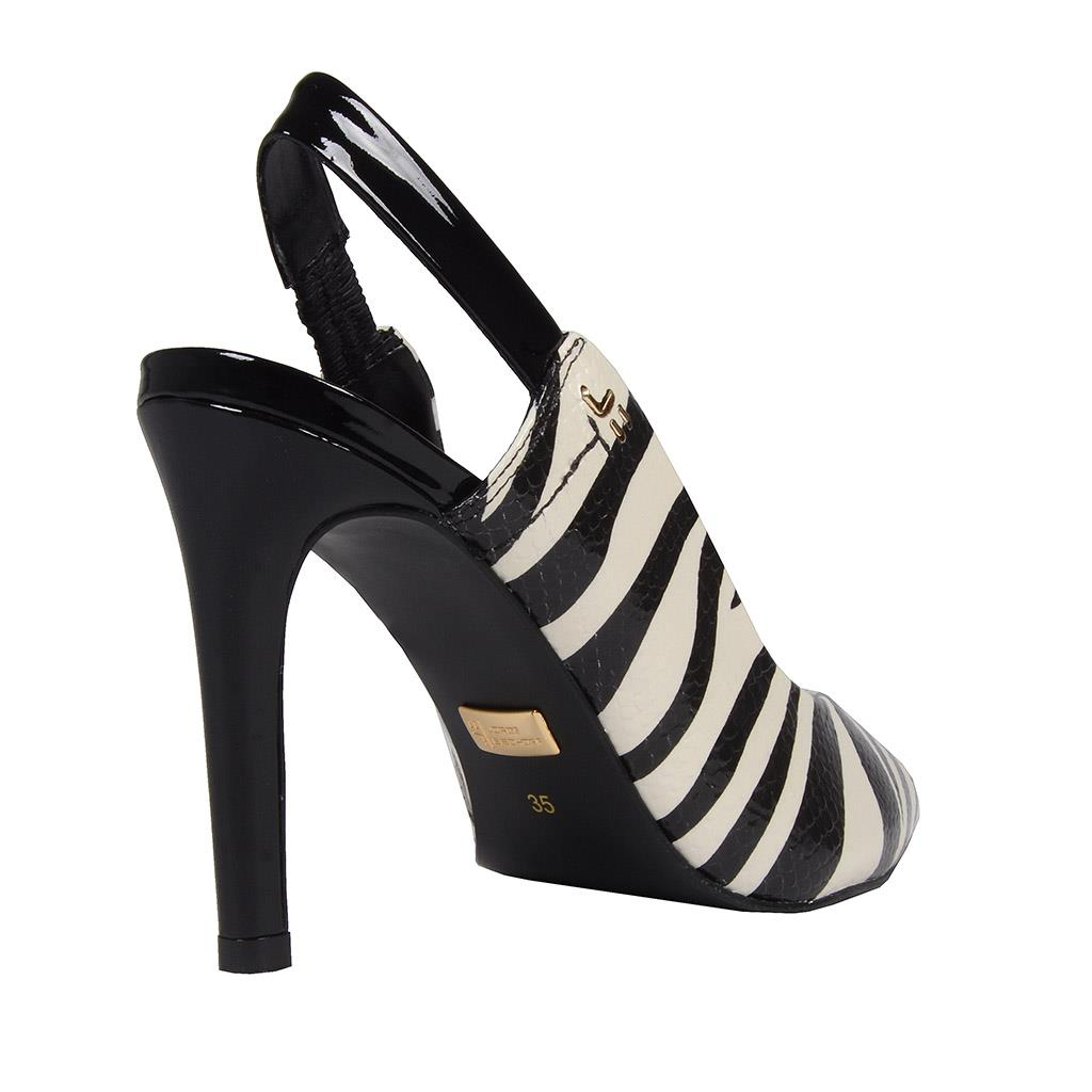 Slingback zebra P&B I19 3