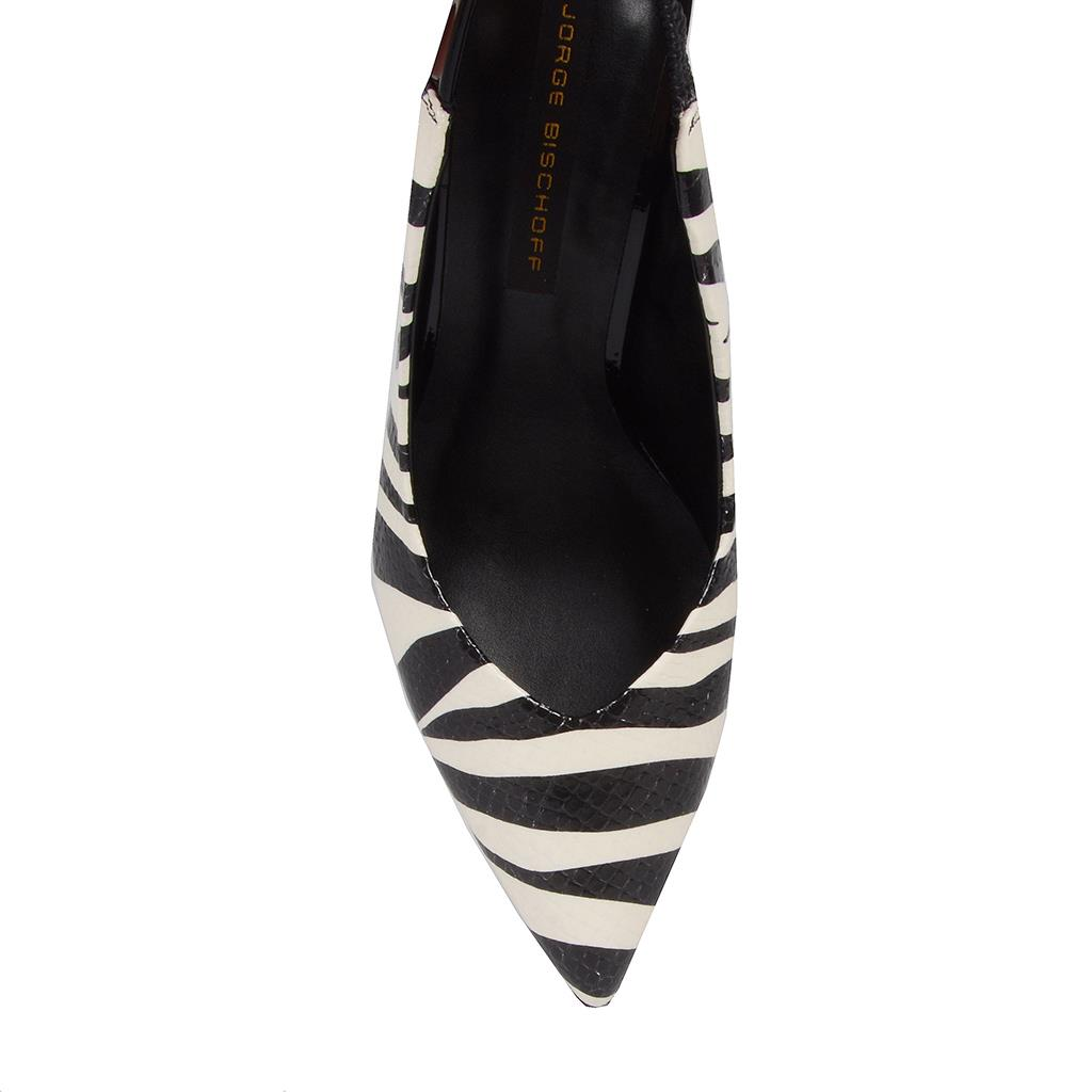Slingback zebra P&B I19 4