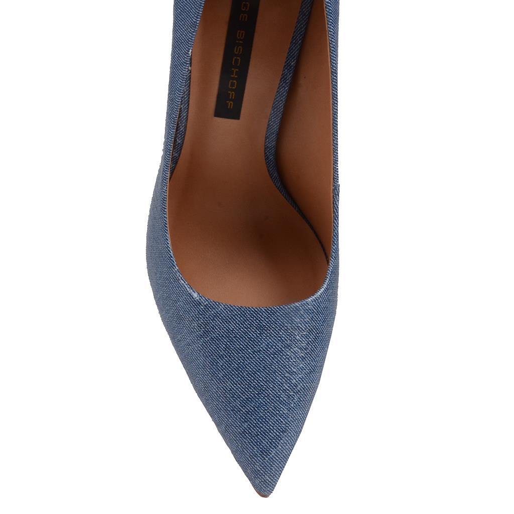 Scarpin Bico Fino Jeans Azul Náutico V20 4