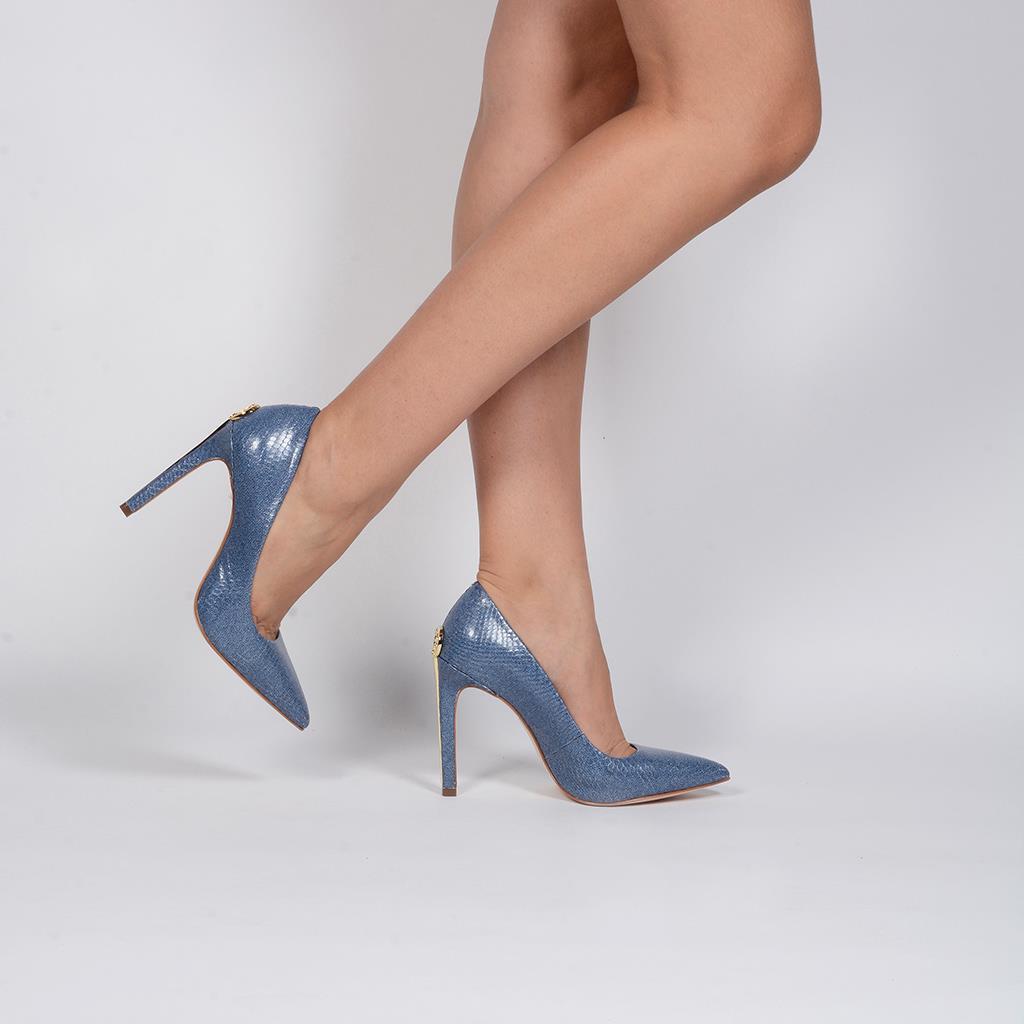 Scarpin Bico Fino Jeans Azul Náutico V20 5