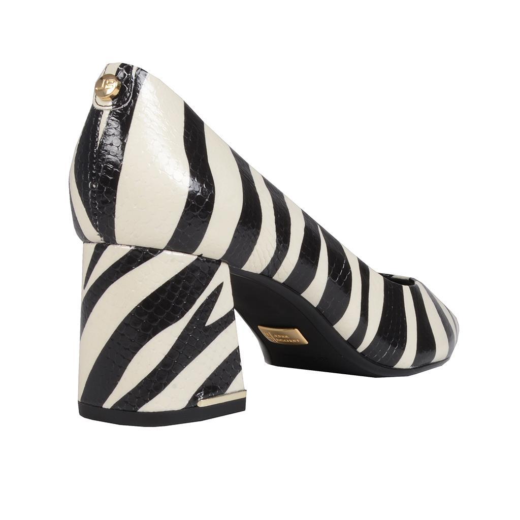Scarpin zebra P&B I19 3