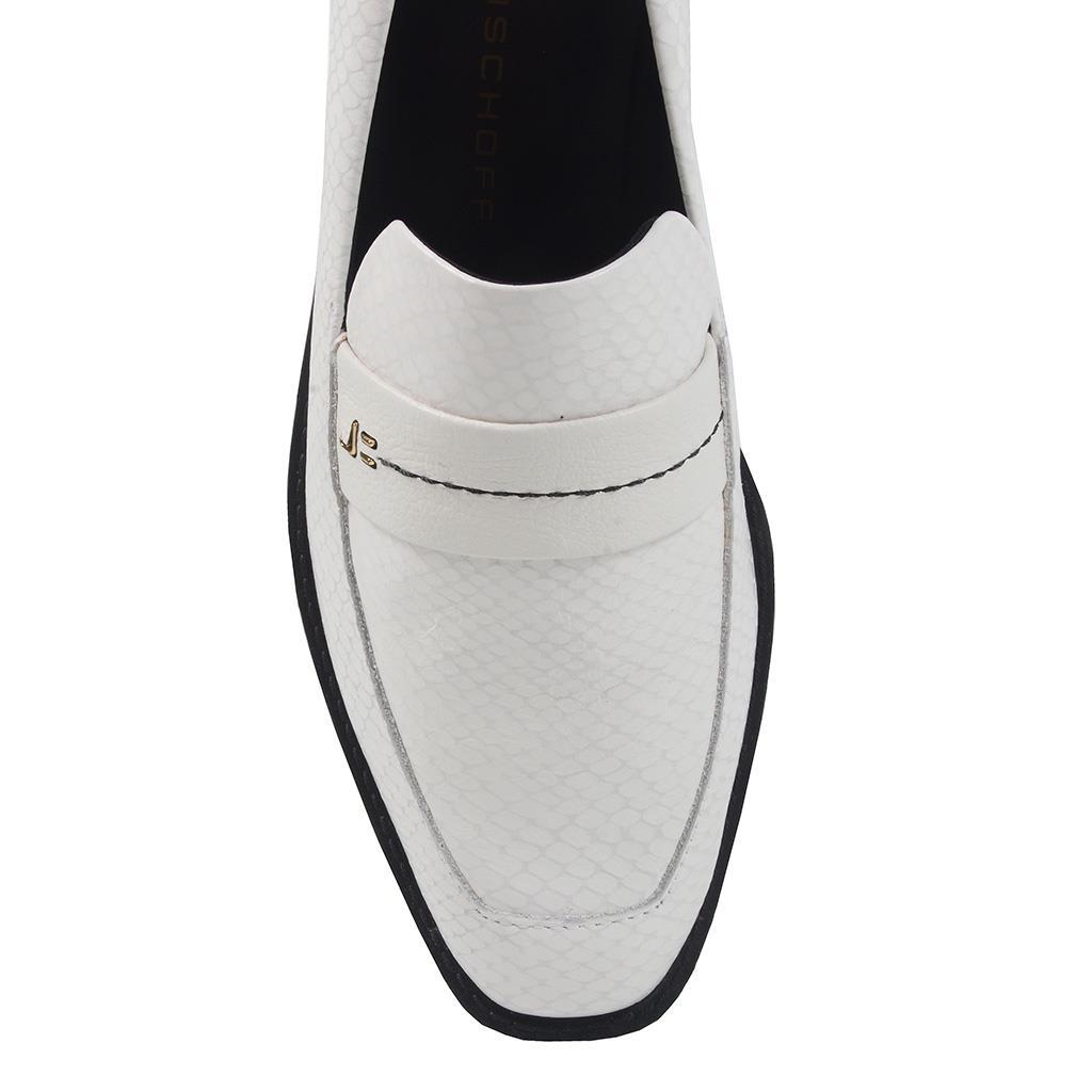 Loafer feminino branco I19  4