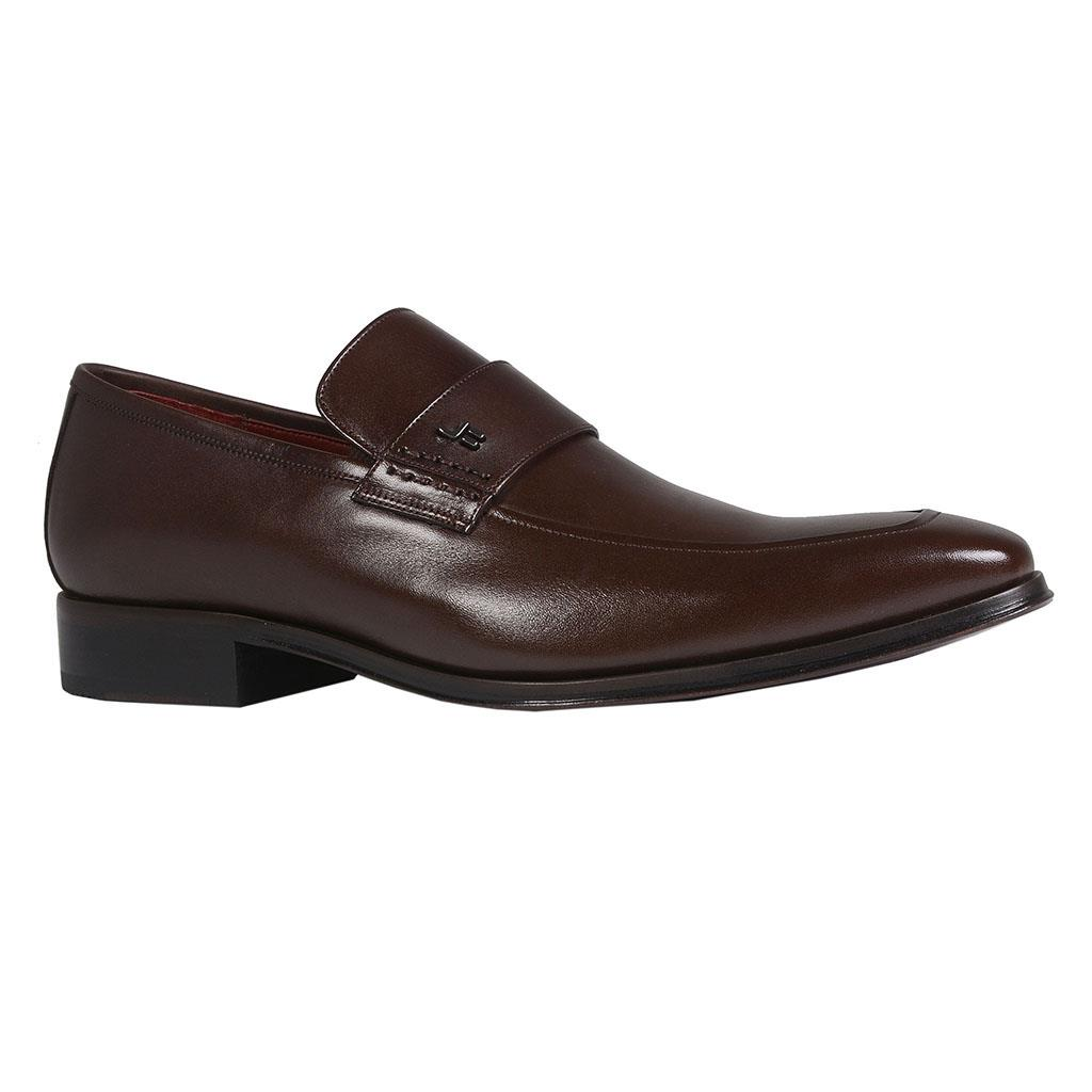 Sapato loafer masculino de couro café I19