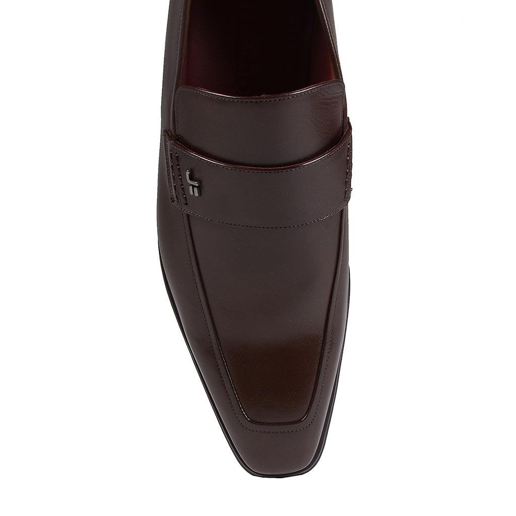 Sapato loafer masculino de couro café I19 4