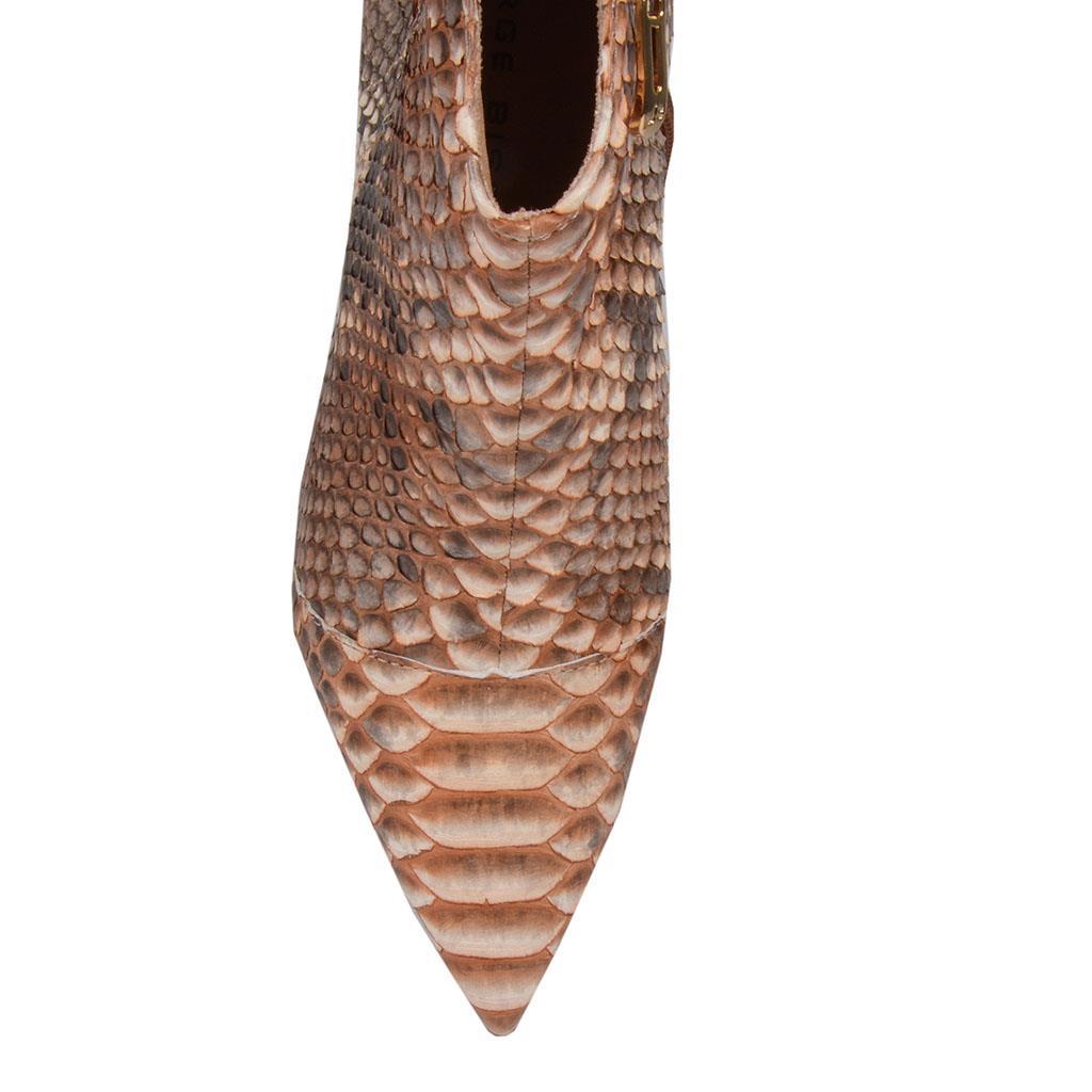 Bota cano curto píton castanho I19 4