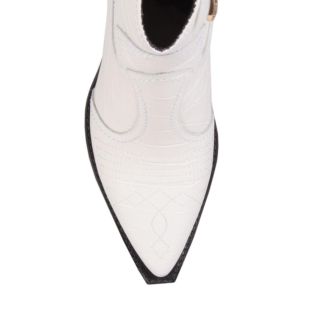 Bota country croco branco I19 4