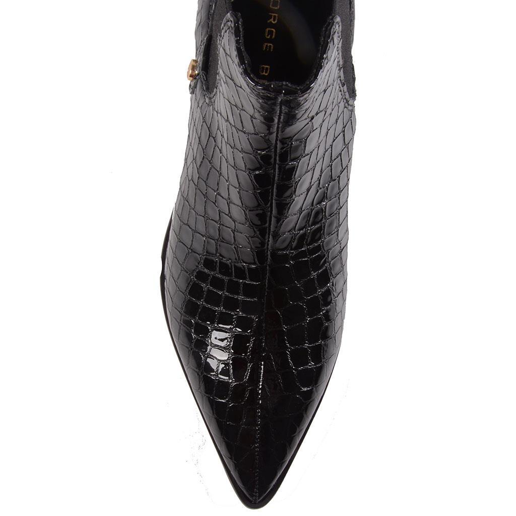 Bota cano curto verniz blur preta I19 2
