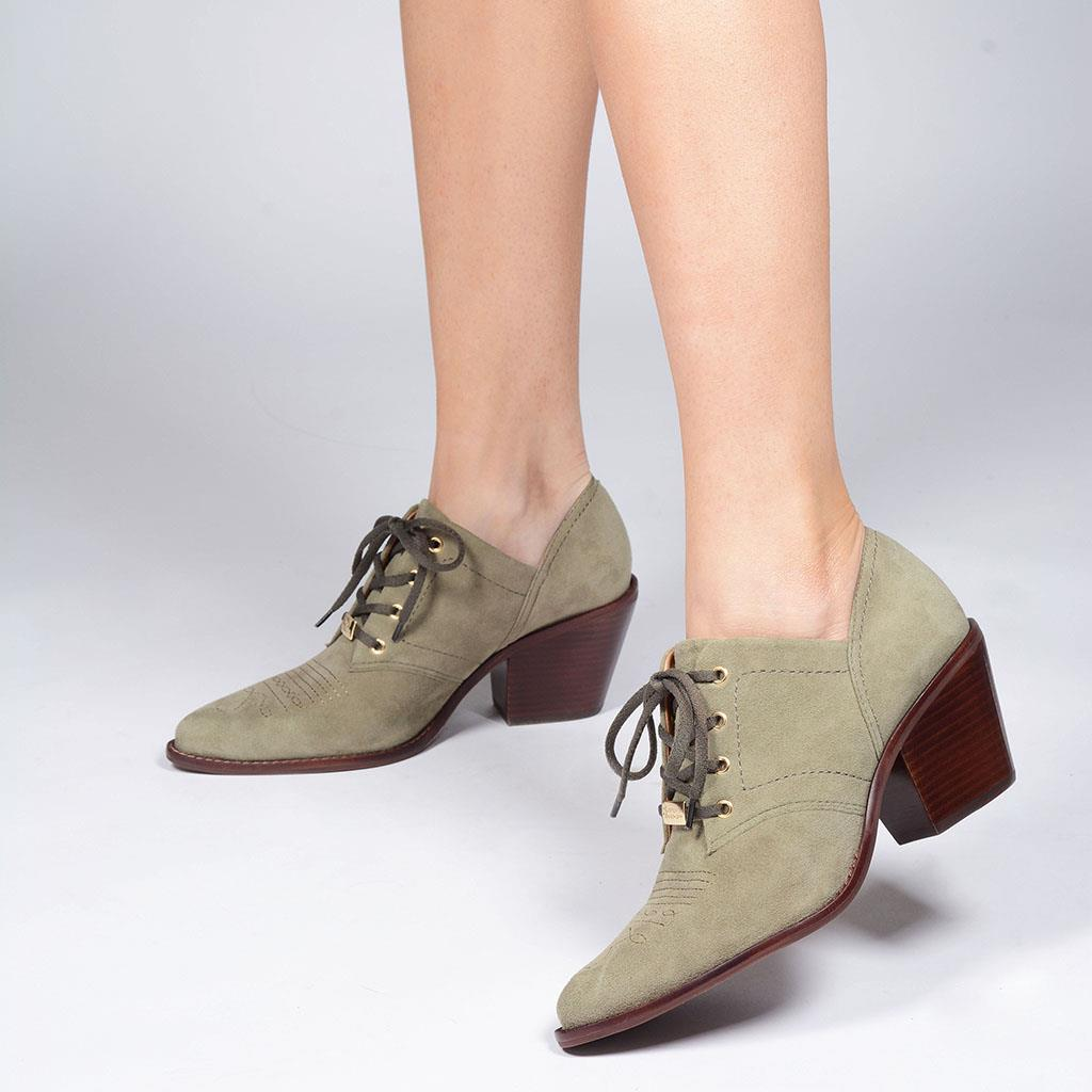Ankle boot country verde militar I19 6