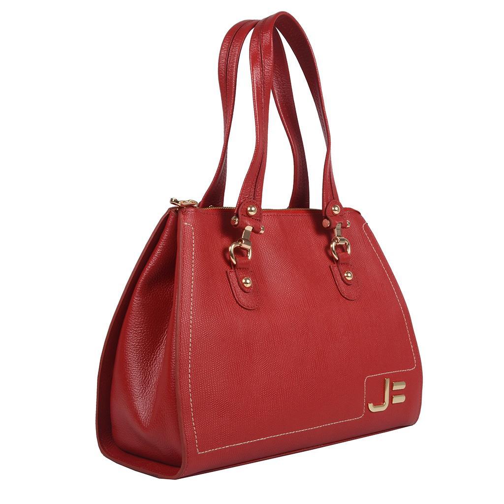 Bolsa Estruturada Vermelha com Pesponto  2