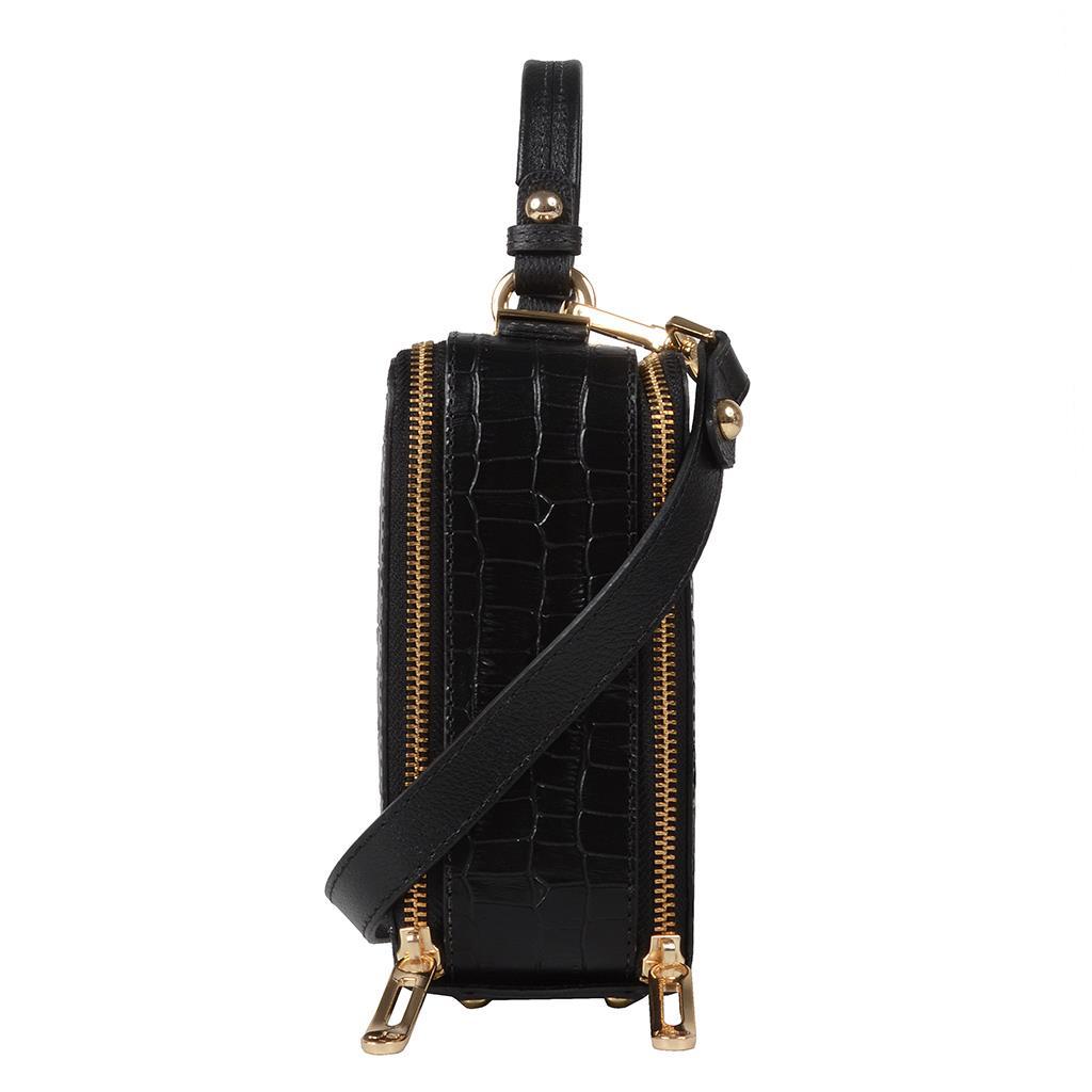 Bolsa box tiracolo preta I19 3