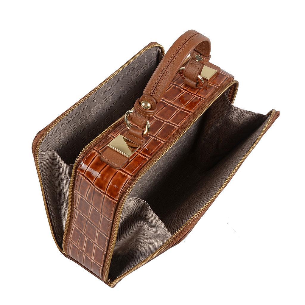 Bolsa box tiracolo castanho I19 5