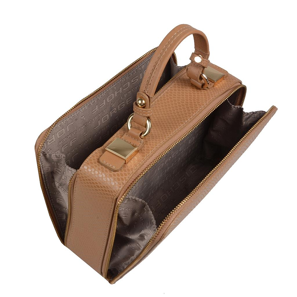 Bolsa box tiracolo snake macadâmia I19 5
