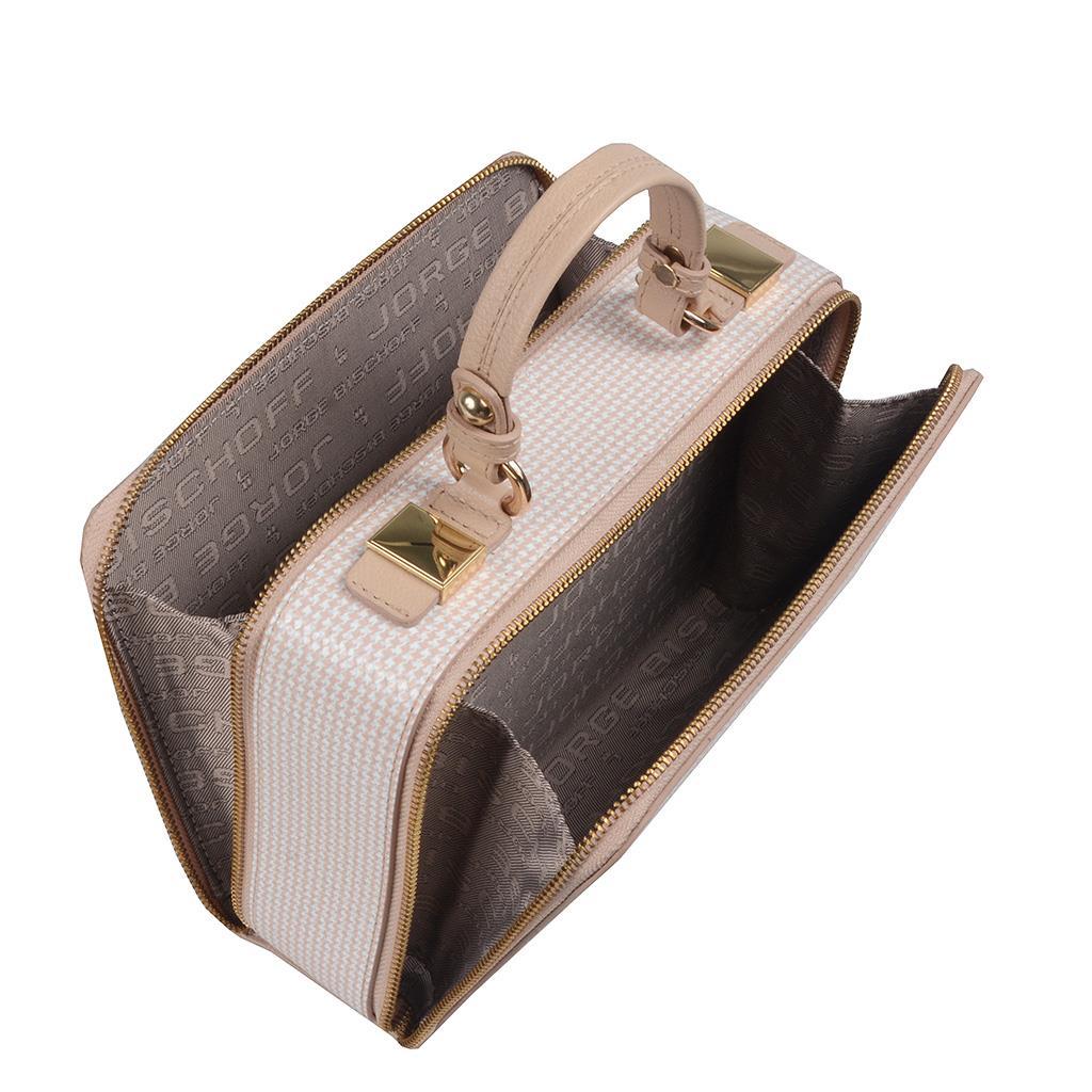 Bolsa Box Pied Poule Blush  3